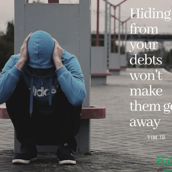 Hiding from debt